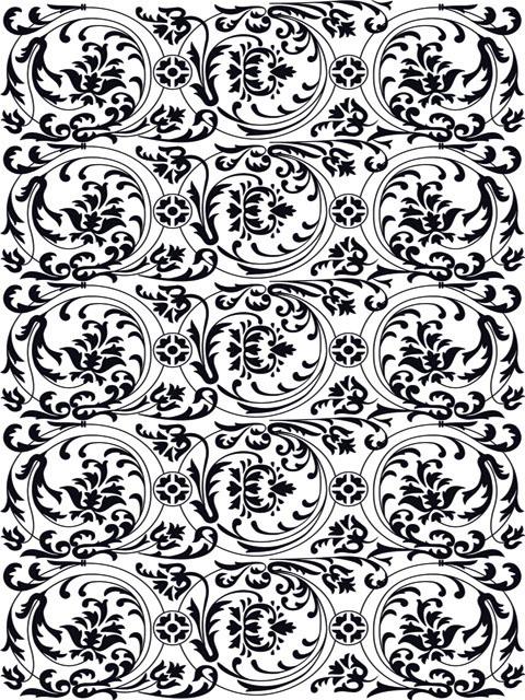 В этой коллекции собраны 105 картинок узоров и орнаментов разных стилей и направлений оформительского